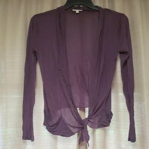 Tie front cover shirt